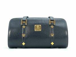 MCM Leder Bag Small Henkeltasche Schwarz Tasche Handtasche Black
