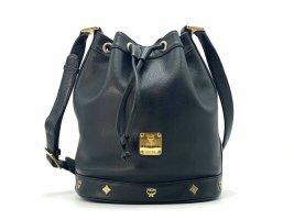 MCM Leder Bucket Beuteltasche Tasche Schultertasche Bag Schwarz Medium Matchsack