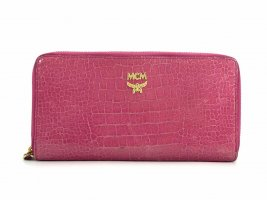 MCM Portemonnee goud-roze