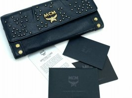 MCM Wallet black-gold-colored leather