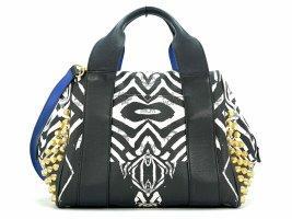 MCM Leder Handtasche Umhängetasche Tasche Bag ZebraPrint Henkeltasche Nieten