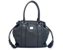 MCM Handbag black-silver-colored leather