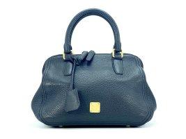 MCM Leder Henkeltasche Tasche Schwarz Gold Shopper Bag Black Handtasche