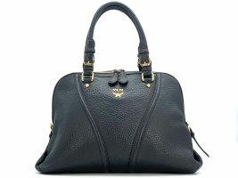 MCM Leder Henkeltasche Tasche Schwarz Gold Shopper Bag Black Handtasche Medium