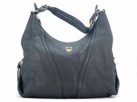 MCM Leder Hobo Bag Large Schwarz Schultertasche Handtasche Umhängetasche Tasche