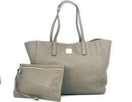 MCM Leder Shopper Bag Tasche Handtasche Henkeltasche Schultertasche + Etui Khaki