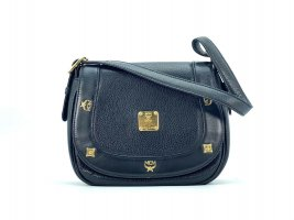 MCM Shoulder Bag black-gold-colored leather