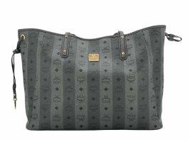 MCM Liz Shopper Wendeshopper Bag Large Tasche Anthrazit Henkeltasche LogoPrint