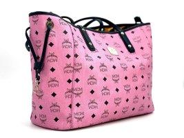 """MCM """" Liz """" Shopper Wendeshopper Visetos Bag Tasche Pink Henkeltasche LogoPrint"""