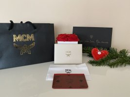 MCM Card Case brick red-black leather