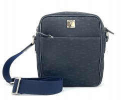MCM Messenger Bag Tasche Schultertasche Shopper Crossbody Unisex Schwarz Blau