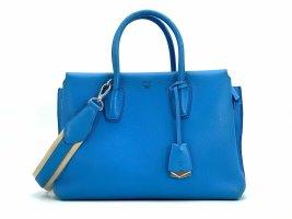 MCM Milla Tote Bag Blau Henkeltasche Medium Tasche Schultertasche Blue