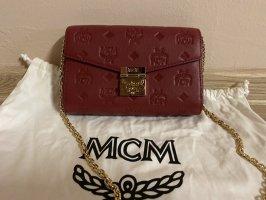 MCM Shoulder Bag dark red