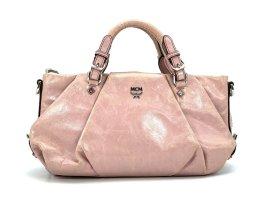MCM Mini Bag Tasche Henkeltasche Schultertasche Small Rosa Silber Leder
