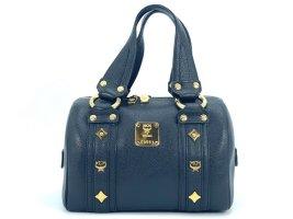 MCM mini Handtasche Abendtasche Tasche Bag Black Leder Henkeltasche
