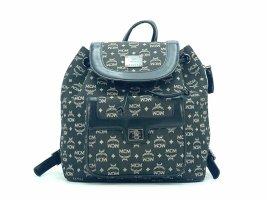 MCM Mini Kordelzug Rucksack Backpack Leder Stoff Tasche Shopper Small LogoPrint