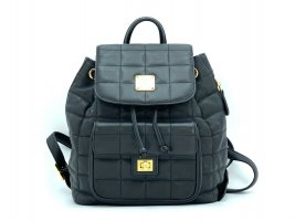 MCM Daypack black-gold-colored leather