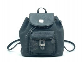 MCM Daypack black-silver-colored leather