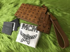 MCM Pochette brown-sand brown leather