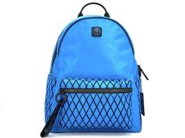 MCM Nylon Rucksack Backpack Medium Blau Schwarz Neu m. Etikett und Zubehör