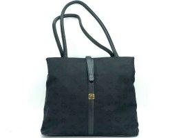 MCM Nylon Shopper Tasche Schultertasche Bag schwarz Henkeltasche Logo Print