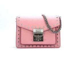MCM Patricia Studded Outline Bag Leder Rosa Silber Small Tasche