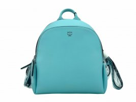 MCM Daypack light blue-silver-colored leather