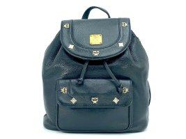 MCM Rucksack Backpack schwarz Leder Tasche Shopper black Leather Michael Cromer