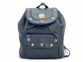 MCM Trekking Backpack black-gold-colored leather