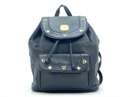 MCM Rucksack Backpack Schwarz Leder Tasche Shopper Black Leather Michael Cromer