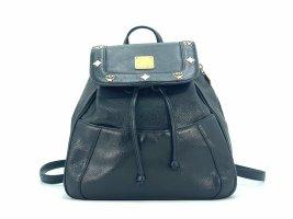 MCM Rucksack Backpack Small schwarz Leder Tasche Shopper black Michael Cromer