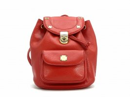 MCM Daypack gold-colored-red leather