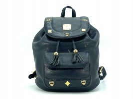 MCM Mini Backpack black-gold-colored leather