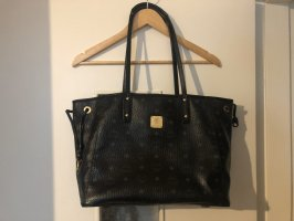MCM Shopper black-gold-colored