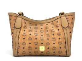 MCM Shopper Bag Cognac Henkeltasche Schultertasche Large Tasche
