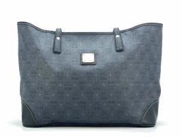MCM Shopper Bag PVC Tasche Medium Schultertasche Henkeltasche Anthrazit Grau