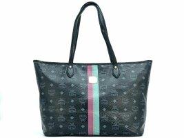 MCM Shopper Bag Schwarz Medium Black Stripe Tasche Handtasche Henkeltasche Bag