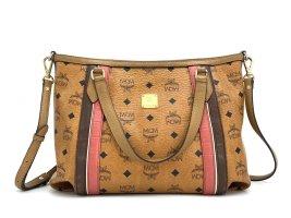 MCM Shopper Bag Small Tasche Handtasche Henkeltasche Stripes Schultertasche