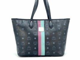 MCM Shopper black-silver-colored