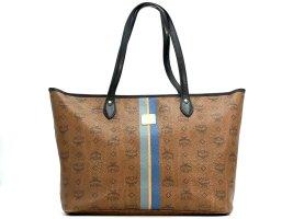 MCM Shopper Bag Tasche Handtasche Henkeltasche Schultertasche Braun LogoPrint