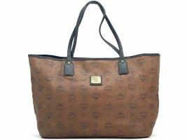 MCM Shopper Bag Tasche Handtasche Henkeltasche Schultertasche Visetos Braun