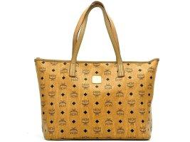 MCM Shopper Bag Tasche Handtasche Henkeltasche Visetos Cognac Medium LogoPrint