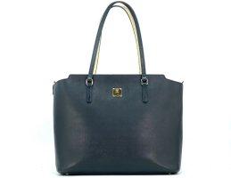 MCM Shopper Bag Tasche Schwarz Handtasche Henkeltasche Schultertasche Leder
