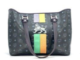 MCM Shopper Tasche Handtasche Henkeltasche schwarz Schultertasche Bag LogoPrint