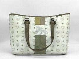 MCM Shopper Tasche Handtasche Henkeltasche weiss Schultertasche Lion Medium