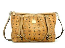 MCM Shopper Tasche Umhängetasche Schultertasche Cognac Medium Henkeltasche Bag