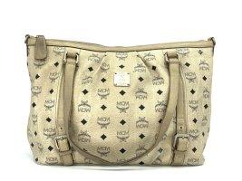 MCM Shopper Tasche Umhängetasche Schultertasche Ivory Medium Henkeltasche Bag