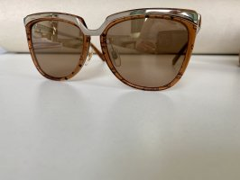 MCM Angular Shaped Sunglasses brown-gold-colored