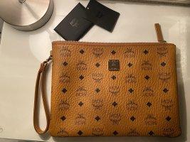 Mcm Stark Top Zip Pouch Bag Original Clutche & Staubbeutel
