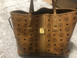 MCM Shopper gold-colored-black
